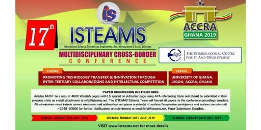 17th iSTEAMS  Cross-Border  Conference, Ghana 2019