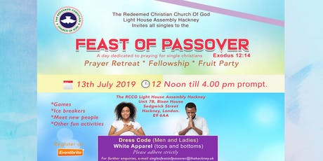 Singles Feast Of Passover tickets