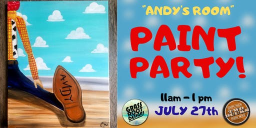 Andy's Room | Paint Party at Two Bucks! [Lakewood]
