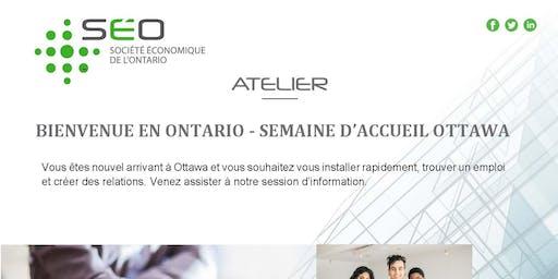 Bienvenue en Ontario - Semaine accueil Ottawa - Bureau Ottawa