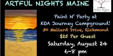 Paint N' Party Night at Augusta/Gardiner KOA Journey tickets