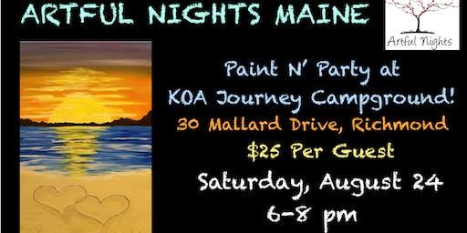 Paint N' Party Night at Augusta/Gardiner KOA Journey