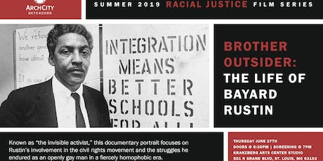 Racial Justice Film Series: Brother Outsider tickets
