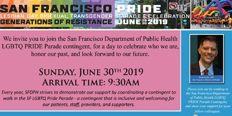 Pride Parade March with SFDPH Contigent tickets