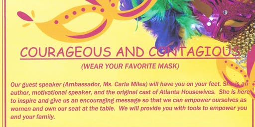 Ladies of Justice Presents:  Courageous and Contagious featuring Ms. Carla Miles