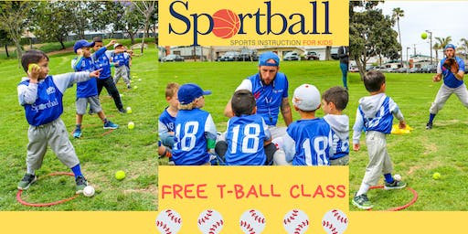 Sportball FREE T-Ball Class - Ages 3 yrs - 6 yrs - Valley Park June 20th