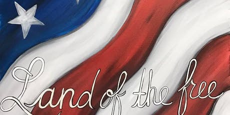 """""""Land of the Free"""" Painting Class tickets"""