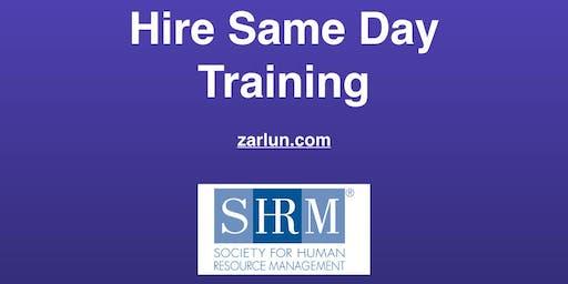 Hire Same Day© Training (Revolutionary) San Diego EB