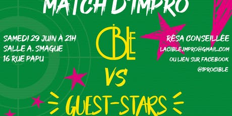 Match d'impro Cible Vs Guest Stars billets