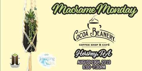Macrame and Hanging Succulent Wine Bottle Workshop at Cocoa Beanery tickets