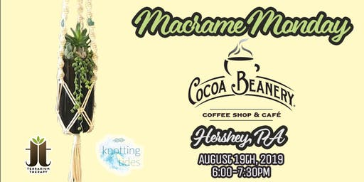 Macrame and Hanging Succulent Wine Bottle Workshop at Cocoa Beanery