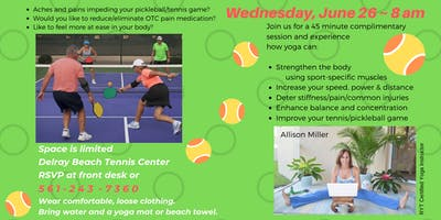 Yoga for Pickleball/Tennis