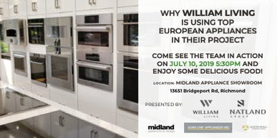 Why WILLIAM LIVING is using top European Appliances!