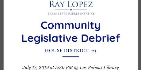 Community Legislative Debrief tickets