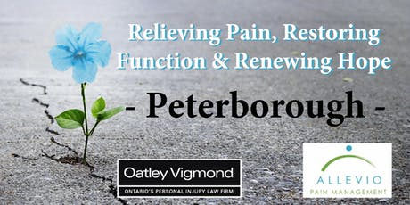 Peterborough - Relieving Pain, Restoring Function & Renewing Hope  tickets
