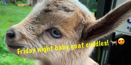 Friday Night Baby Goat Cuddling! tickets