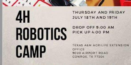 4H Robotics Camp tickets