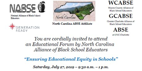 """Ensuring Educational Equity in Schools"" tickets"