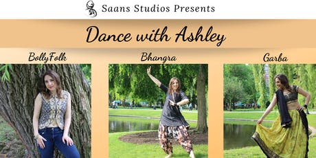 Saans Studios Presents: Dance with Ashley - BollyFolk, Bhangra and Garba! tickets