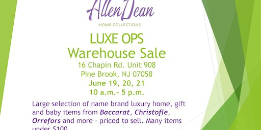 Allen Dean Home Warehouse Sale