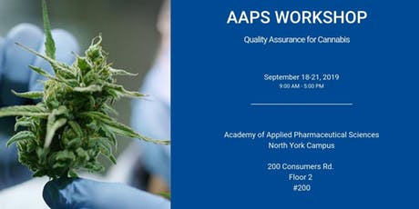 Quality Assurance for Cannabis Certificate Program tickets