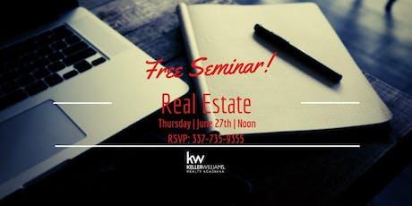 Real Estate Seminar (FREE) tickets