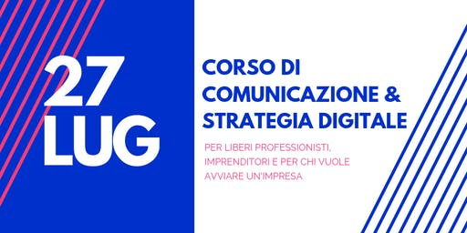 CORSO DI COMUNICAZIONE E STRATEGIA DIGITALE DI MARKETING