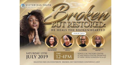 Broken, But Restored Conference 2019 tickets