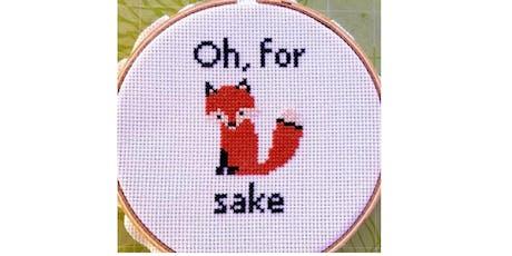 Stitch your favorite curse word tickets