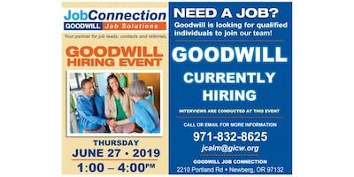 Goodwill is Hiring - Newberg - 6/27/19