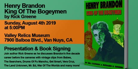 Henry Brandon King Of The Bogeymen by Rick Greene tickets