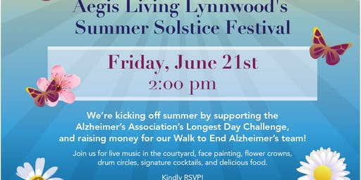Summer Solstice for Seniors and their families