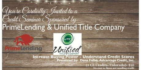 Credit Seminar - Prime & Unified 9.25.19 tickets