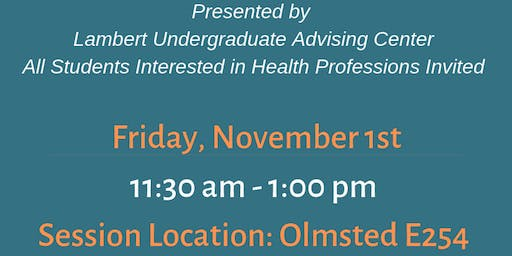 Med Prep: Health Professions Group Advising