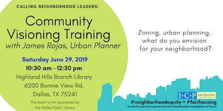 Community Visioning Training (Morning Session)with urban planner James Rojas  tickets