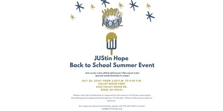 JUStin Hope Back to School Summer Event  tickets