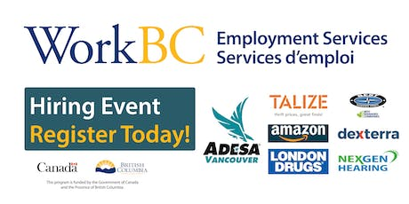 WorkBC Job Fair - Retail, Distribution, Health, & Food tickets