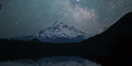 Milky Way over Mt Hood at Lost Lake