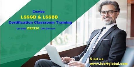Combo Lean Six Sigma Green Belt & Black Belt Certification Training in Crescent City, CA tickets