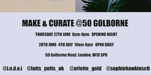 POP-UP INDOI-MAKE + CURATE @50 Golborne / featuring conscious designers