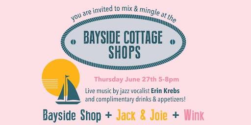 Bayside Cottage Shops Mix & Mingle with live jazz by Erin Krebs!