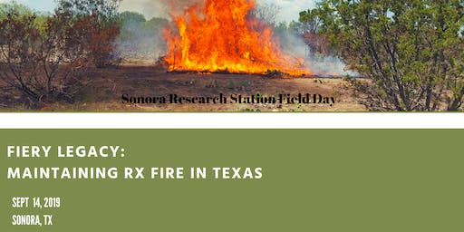 Fiery Legacy:   Maintaining Rx Fire in Texas
