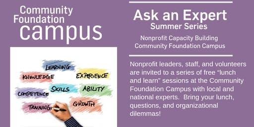 Ask an Expert Summer Series