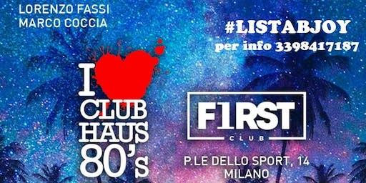 Club Haus 80s all'Ippodromo di SanSiro | INGRESSO GRATUITO | BJOY