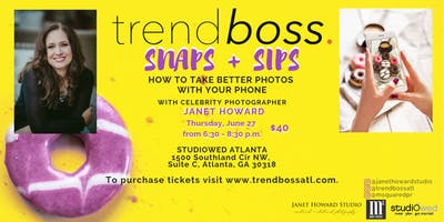 Snaps & Sips with Janet Howard