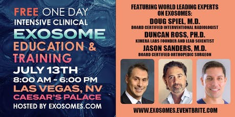 FREE One Day Intensive Clinical EXOSOME Education & Training tickets