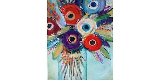 8/13 - Mason Jar Bouquet @ Hidden Vine Bistro, Marysville