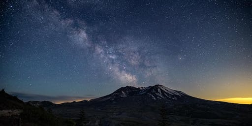 Milky Way over Mt St Helens (6/19/2020)