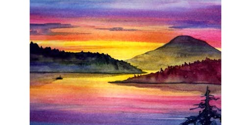 "8/15 - Wine & Watercolor ""Summer Sunset"" @ Kelly's Bar & Grill, NEWPORT"