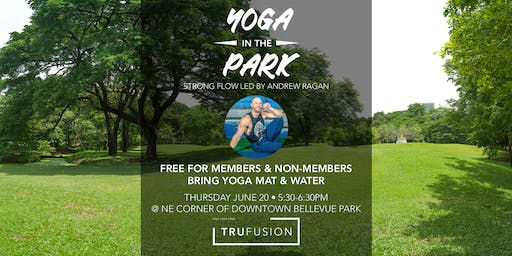 TruFusion Yoga in the Park 6/20